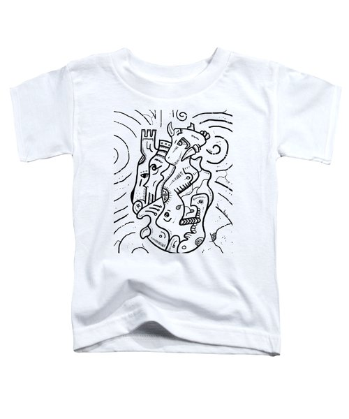 Psychedelic Animals Toddler T-Shirt by Sotuland Art
