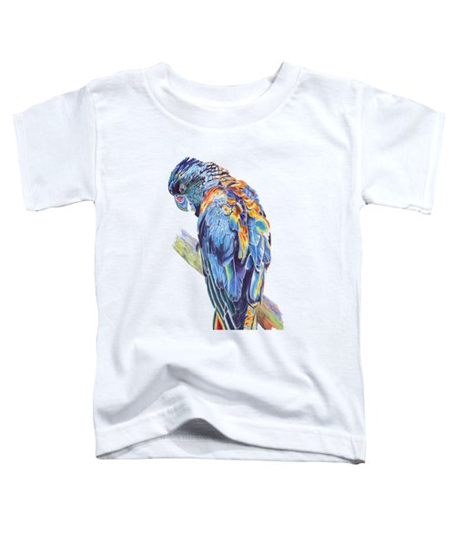 Psychedelic Parrot Toddler T-Shirt by Lorraine Kelly