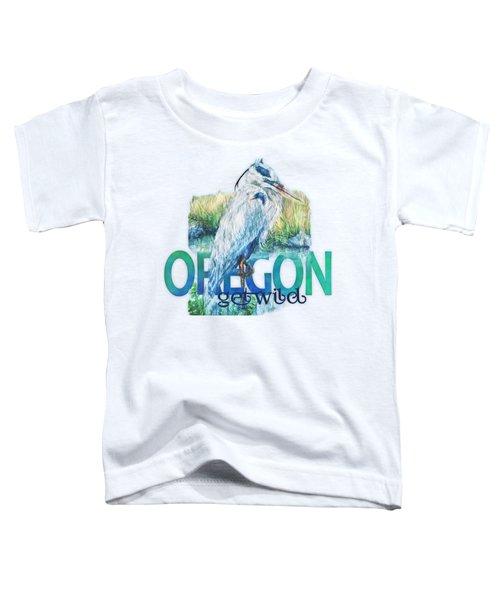 Puddletown Great Blue Heron Toddler T-Shirt