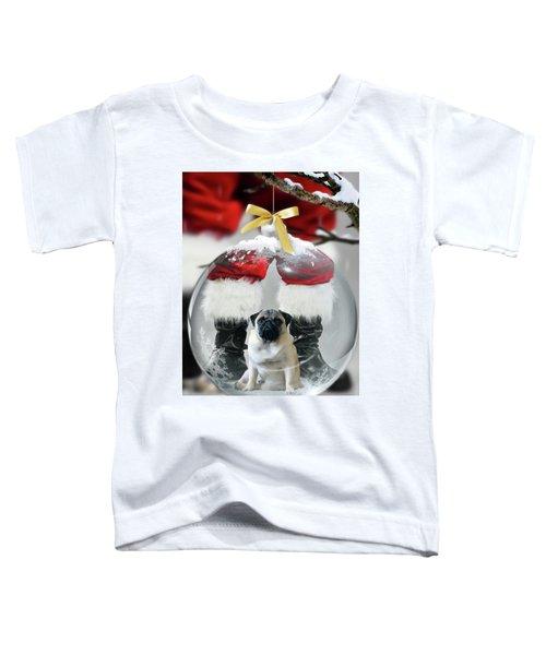 Pug And Santa Toddler T-Shirt