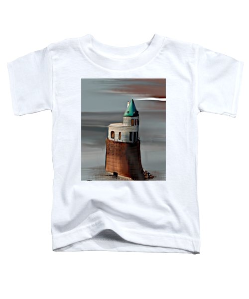 Toddler T-Shirt featuring the digital art Pump Station On The Mississippi  by Gerry Morgan
