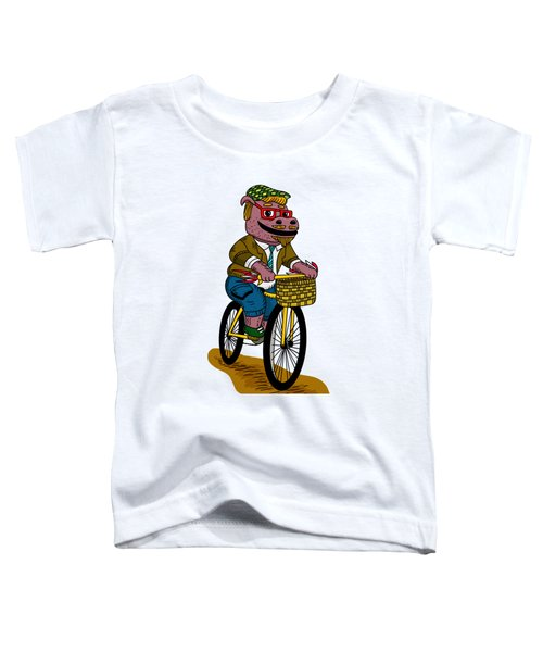 Pun Intended - Hipsterpotamus - Hipsters- Funny Design Toddler T-Shirt by Paul Telling