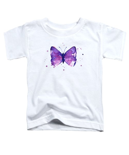 Purple Abstract Butterfly Toddler T-Shirt