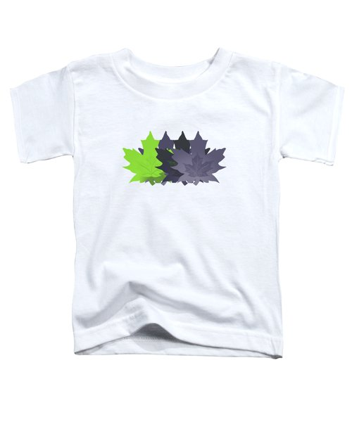 Purple And Green Leaves Toddler T-Shirt by Methune Hively