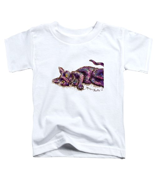 Purple Cat Toddler T-Shirt