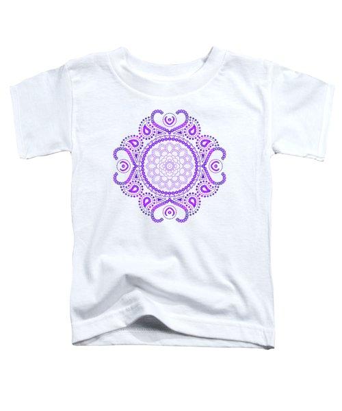 Purple Lotus Mandala Toddler T-Shirt