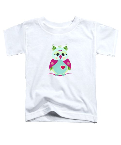 Purple Owl Toddler T-Shirt