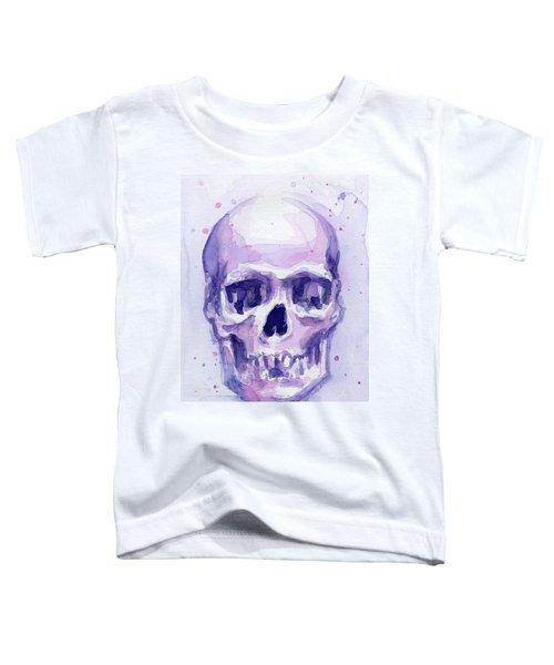 Purple Skull Toddler T-Shirt