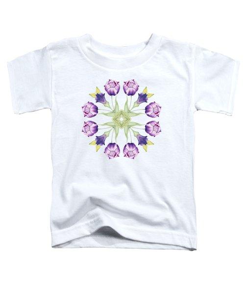 Purple Tulip Mandala Toddler T-Shirt