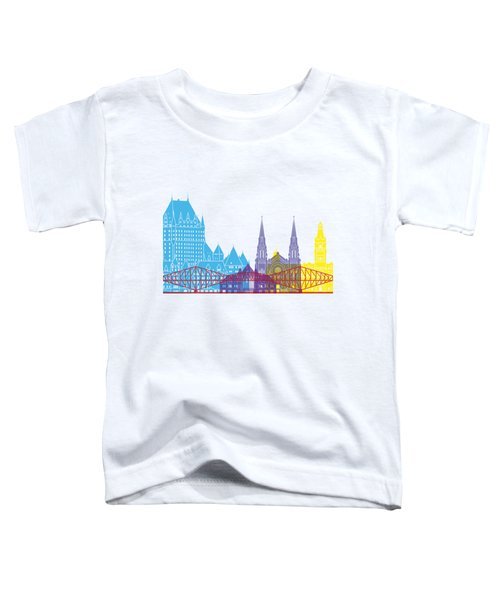 Quebec Skyline Pop Toddler T-Shirt