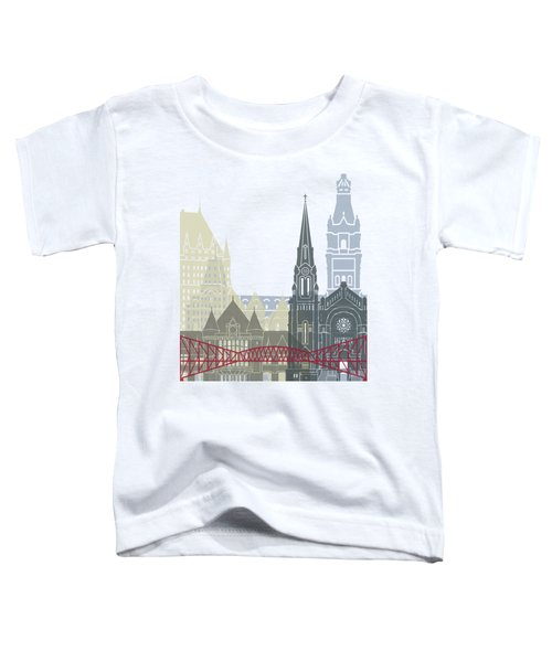 Quebec Skyline Poster Toddler T-Shirt