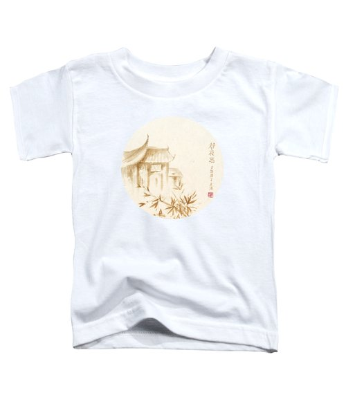 Quiet Night Thoughts - Round Toddler T-Shirt