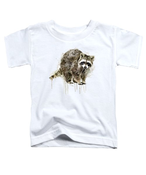 Raccoon Toddler T-Shirt by Marian Voicu
