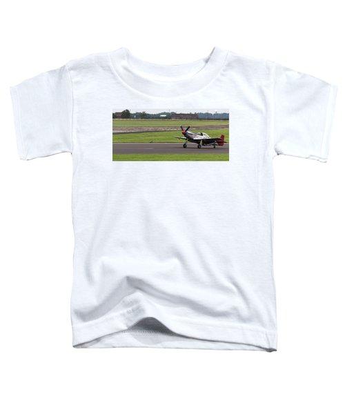 Raf Scampton 2017 - P-51 Mustang Landing Toddler T-Shirt