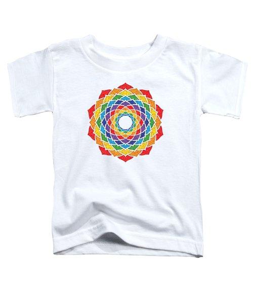 Rainbow - Crown Chakra - Pointillism Toddler T-Shirt