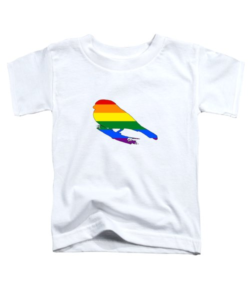 Rainbow Finch Toddler T-Shirt by Mordax Furittus
