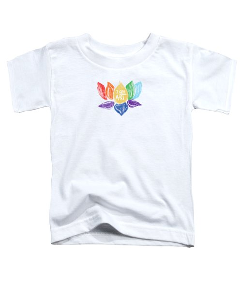 Rainbow Lotus I Am Art- Art By Linda Woods Toddler T-Shirt