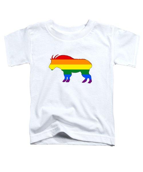 Rainbow Mountain Goat Toddler T-Shirt by Mordax Furittus