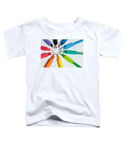 Rainbow Of Crayons Toddler T-Shirt