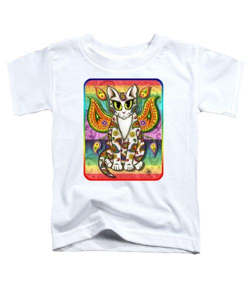 Rainbow Paisley Fairy Cat Toddler T-Shirt