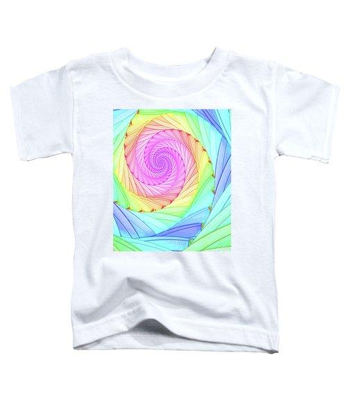 Rainbow Spiral Toddler T-Shirt