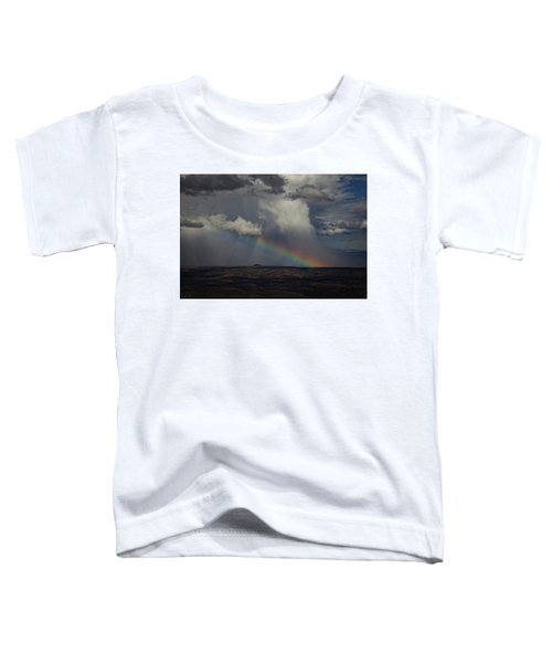 Rainbow Storm Over The Verde Valley Arizona Toddler T-Shirt