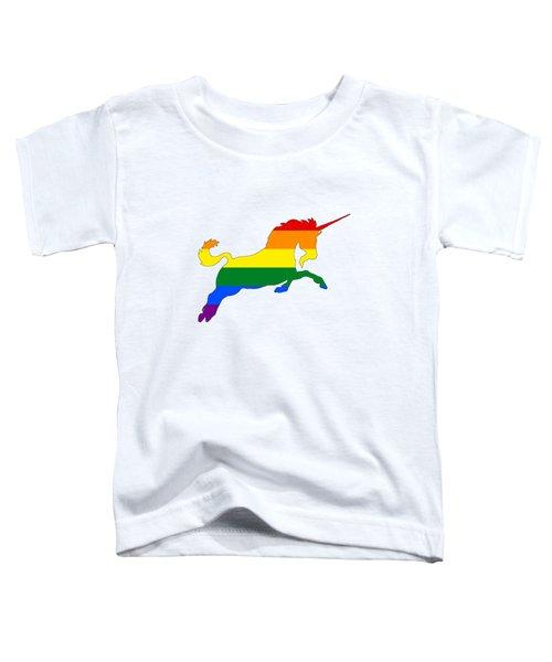 Rainbow Unicorn Toddler T-Shirt by Mordax Furittus