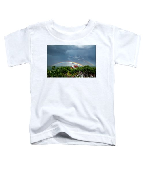 Rainbow X 2 At Portland Headlight Toddler T-Shirt