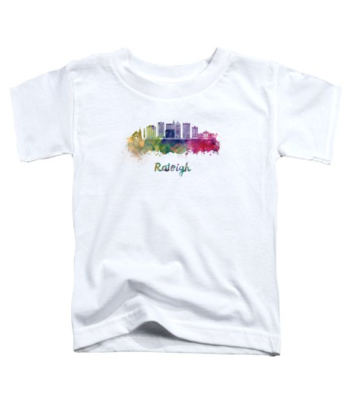 Raleigh V2 Skyline In Watercolor Toddler T-Shirt