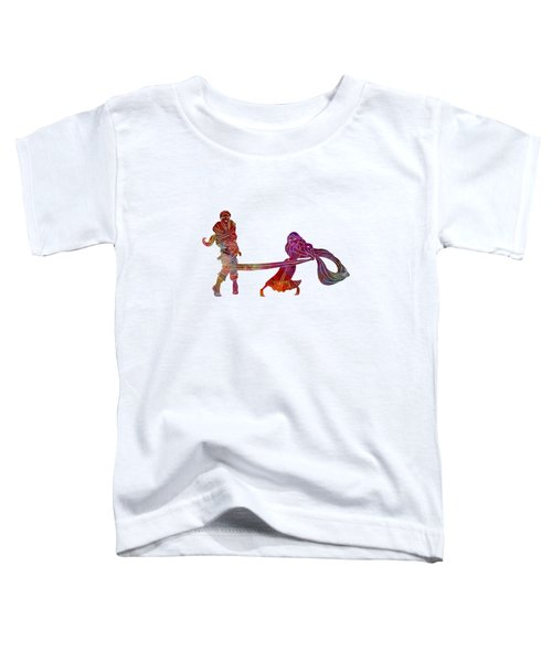 Rapunzel And Partner 02 In Watercolor Toddler T-Shirt