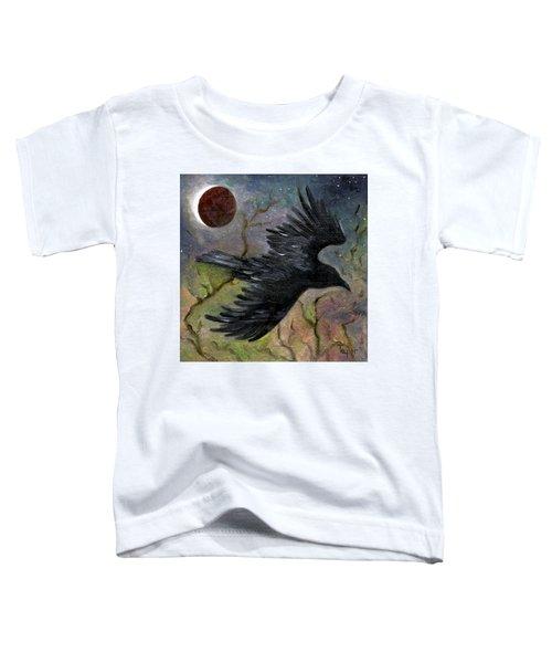 Raven In Twilight Toddler T-Shirt
