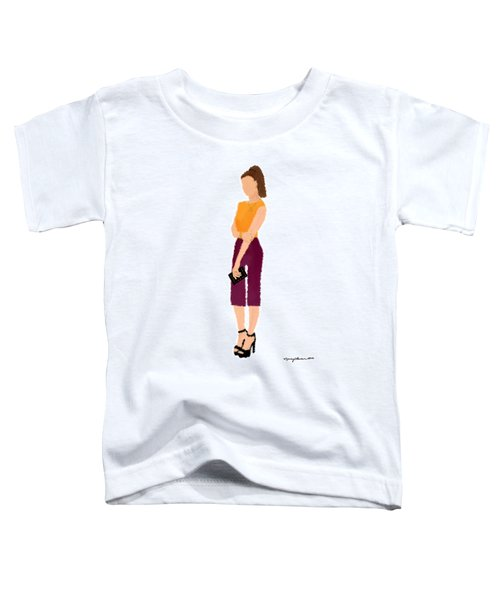Toddler T-Shirt featuring the  Rebecca by Nancy Levan