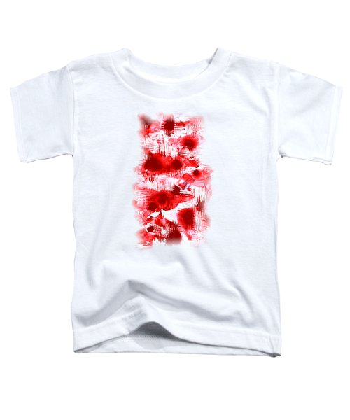 Red And White Toddler T-Shirt