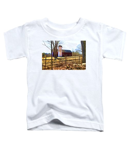 Red Barn And Silo  Toddler T-Shirt