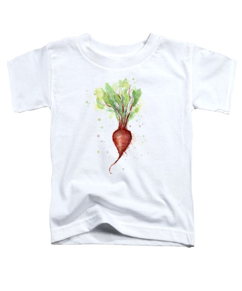 Red Beet Watercolor Toddler T-Shirt