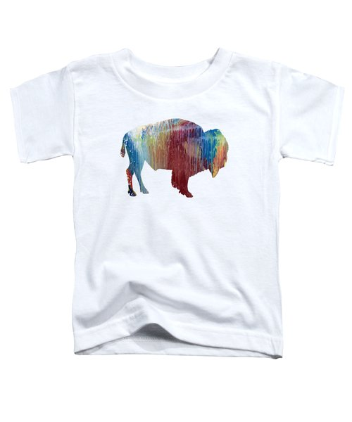 Red Bison Toddler T-Shirt by Mordax Furittus