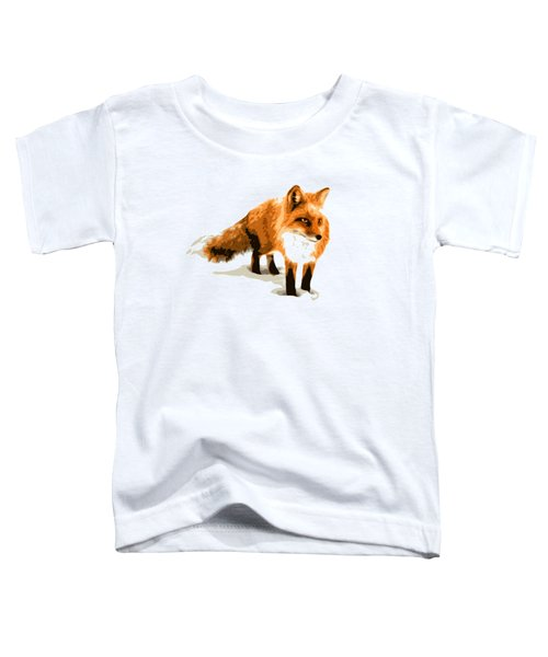Red Fox In Winter Toddler T-Shirt