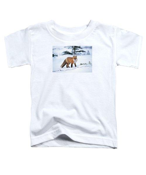 Red Fox Vulpes Vulpes Portrait Toddler T-Shirt