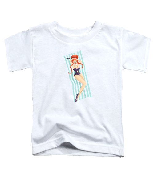 Red Haired Bouffant Beach Blanket Bombshell Toddler T-Shirt