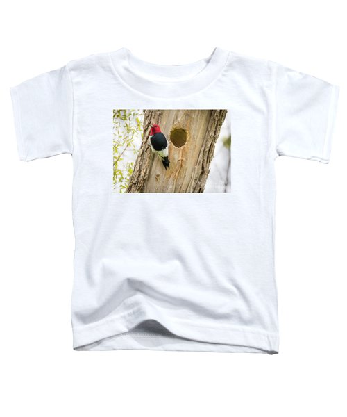 Red-headed Woodpecker At Home Toddler T-Shirt by Ricky L Jones