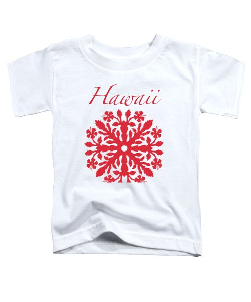 Hawaii Red Hibiscus Quilt Toddler T-Shirt