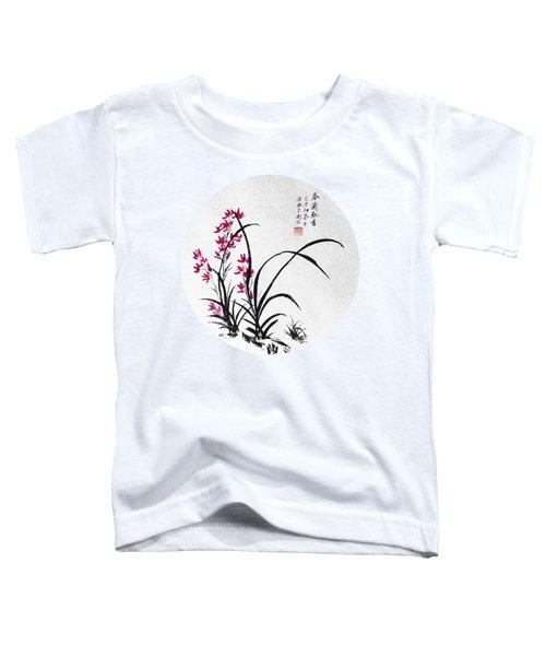 Red Iris - Round Toddler T-Shirt