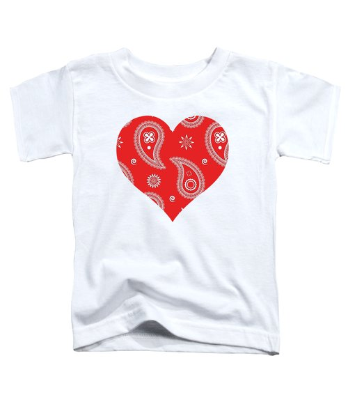 Red Paisley Toddler T-Shirt