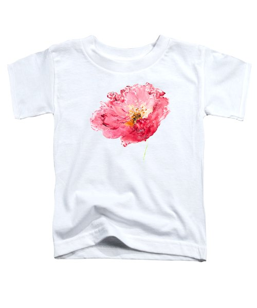Red Poppy Painting Toddler T-Shirt by Jan Matson