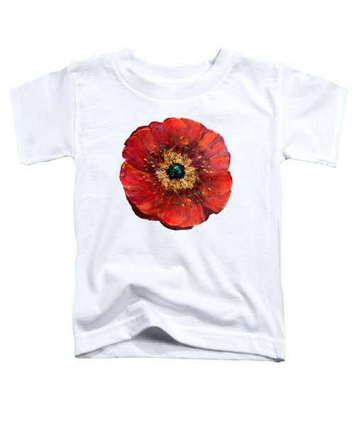 Red Poppy Transparent  Toddler T-Shirt