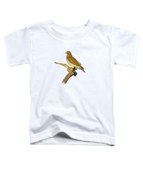 Red Shouldered Hawk Perch Toddler T-Shirt