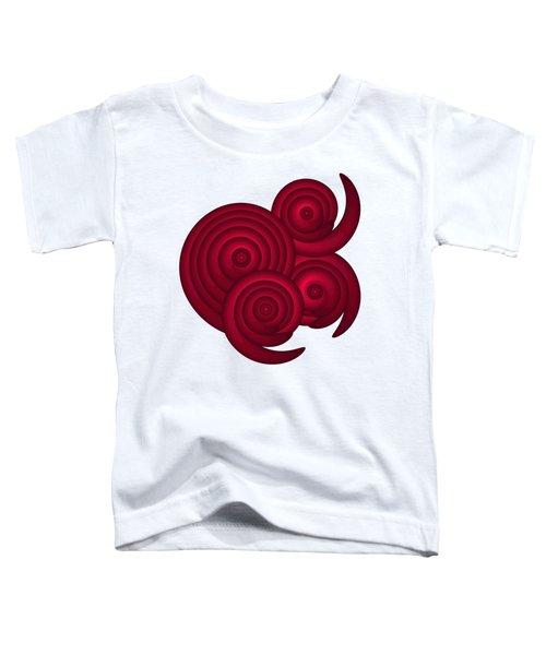Red Spirals Toddler T-Shirt