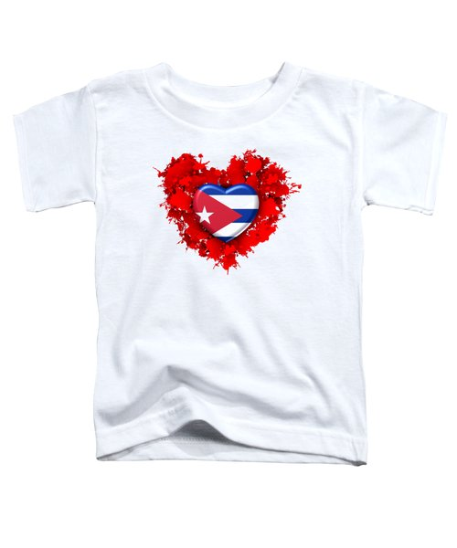 Red Stain Love To Cuba Toddler T-Shirt