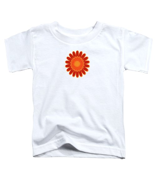 Red Sunflower Pattern Toddler T-Shirt by Methune Hively