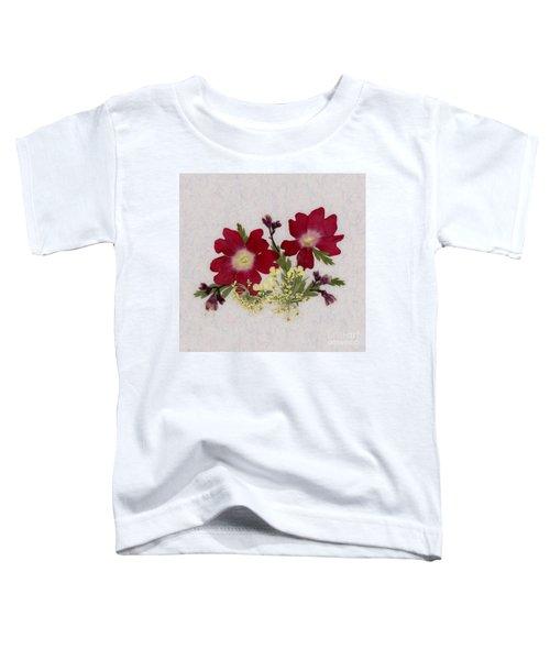 Red Verbena Pressed Flower Arrangement Toddler T-Shirt